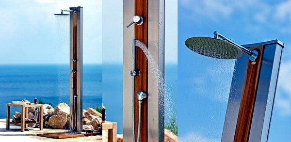 17 ideas for garden shower design refreshment in the hot summer