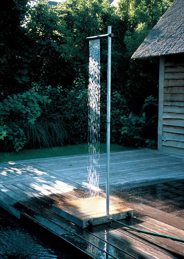 17 ideas for garden shower design refreshment in the hot summer days