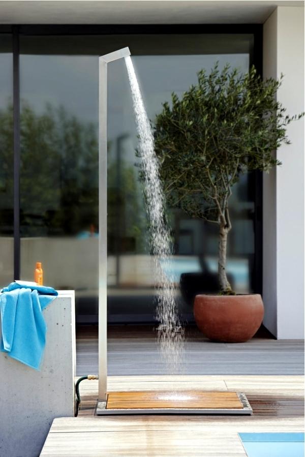 17 ideas for garden shower design refreshment in the hot summer days