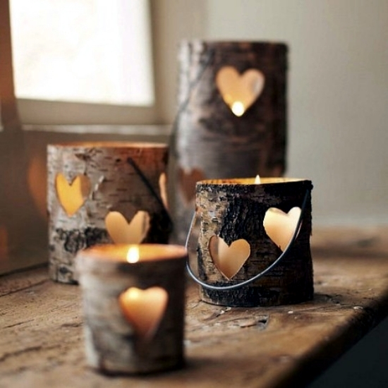 20 creative decorating ideas to make your own candle for Create your own candle holder