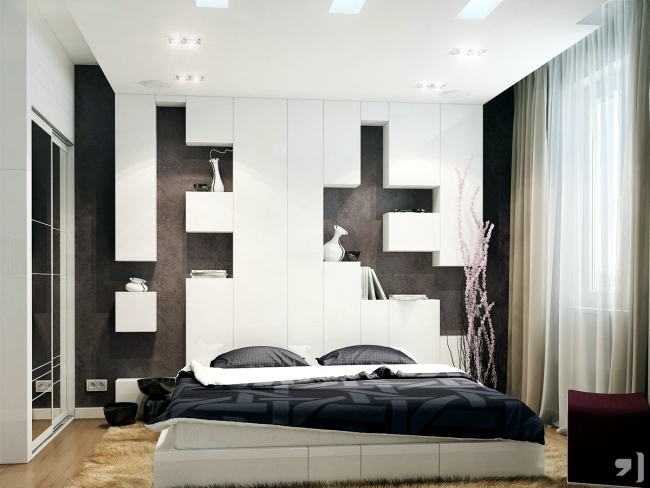 Head Bed Design Mesmerizing 20 Ideas For Attractive Wall Design Behind The Bed In The Bedroom . 2017