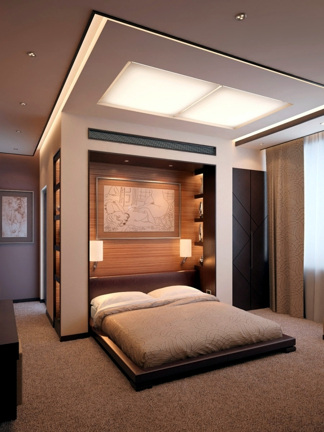 20 ideas for attractive wall design behind the bed in the for Construction themed bedroom ideas