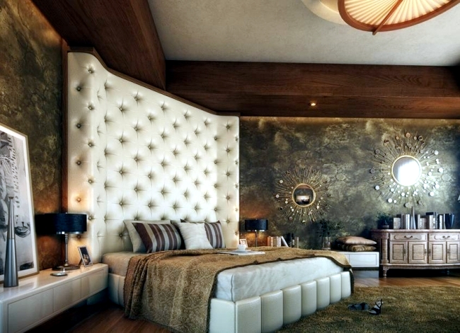 ... Oversized 20 Ideas For Attractive Wall Design Behind The Bed In The  Bedroom