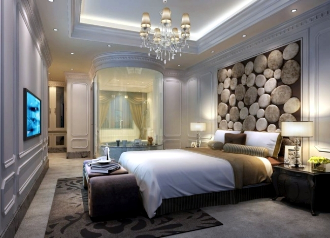 20 ideas for attractive wall design behind the bed in the bedroom - Wall Decoration Bedroom