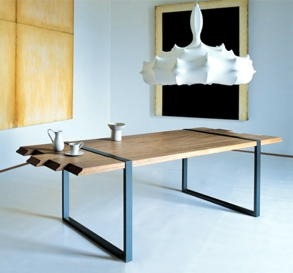20 ideas for innovative dining table designs for the for Dining room table designs