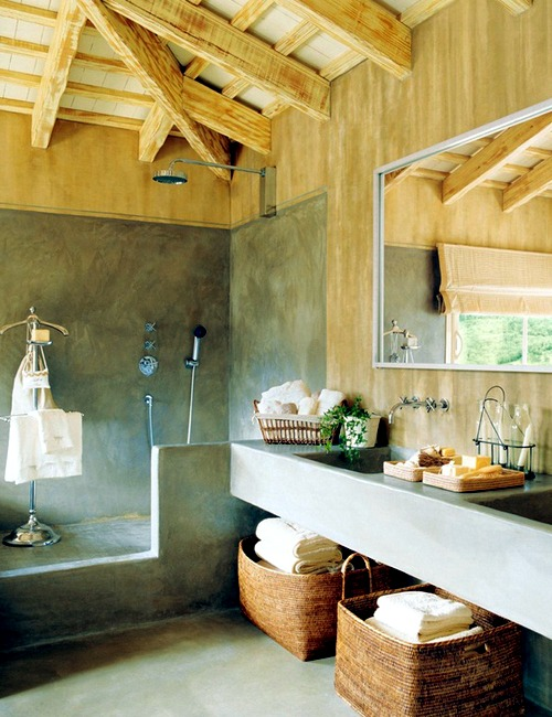 20 Ideas For Rustic Bathroom Bathroom Furniture Made Of