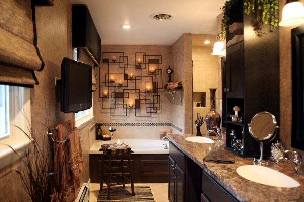 20 ideas for rustic bathroom - bathroom furniture made of wood and natural stone