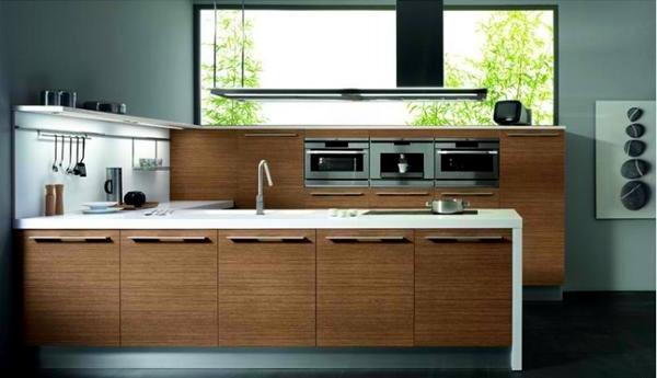 20 ideas for wood kitchen with modern design and warm color
