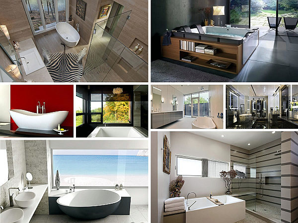 20 modern baths for a relaxing pampering experience interior design ideas ofdesign - Extraordinary and relaxing contemporary bathroom designs ...