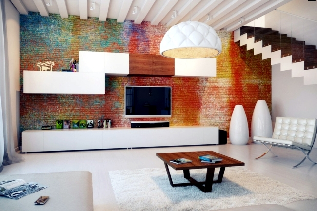 20 stylish ideas for brick wall covering in modern interior ...
