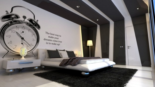 20 very cool ideas for striking bedroom wall design Interior