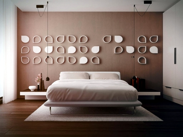 Attractive 20 Very Cool Ideas For Striking Bedroom Wall Design