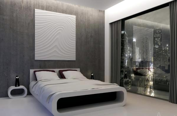 Delightful 20 Very Cool Ideas For Striking Bedroom Wall Design