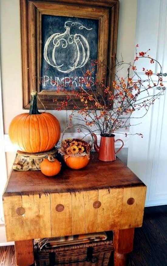 22 beautiful ideas for fall decorating in the kitchen interior