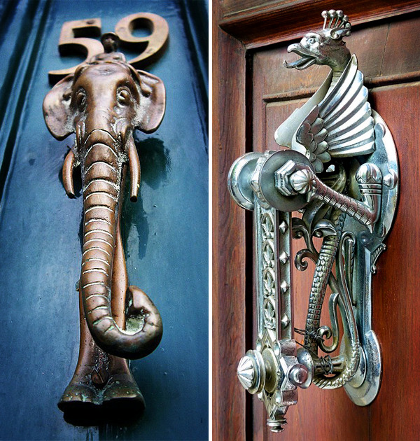 Almost simultaneously with the installation of doors in homes people invented the door knocker. And they must not only announce visitors. & 22 creative door knocker in antique look with interesting shapes ...