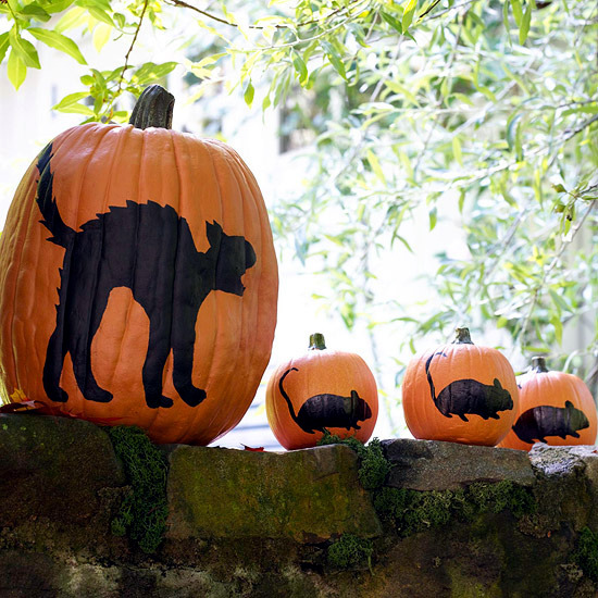 23 autumn and halloween decoration craft ideas with Easy pumpkin painting patterns