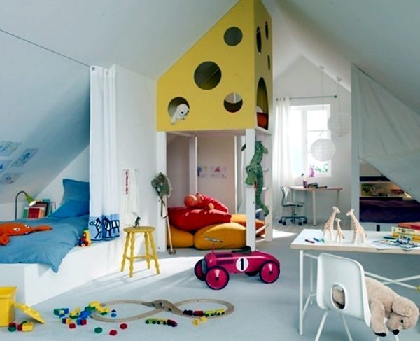 23 decorating ideas for kids room with pitched roof Interior