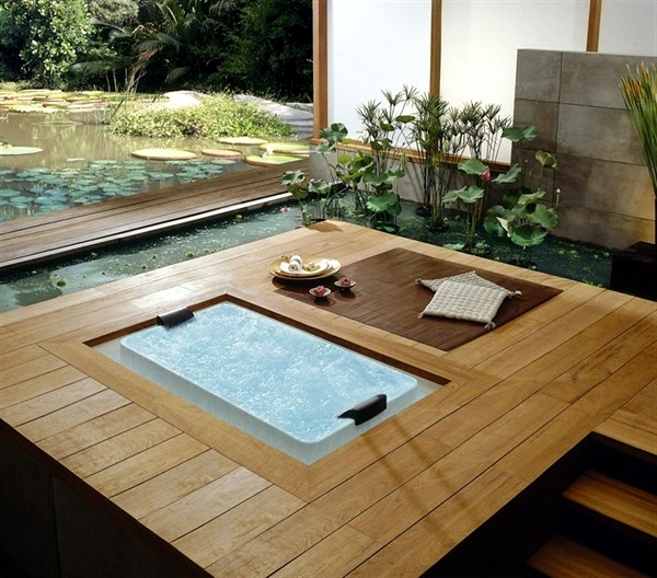 25 designs for indoor and outdoor jacuzzi provide spa for Gartengestaltung jacuzzi