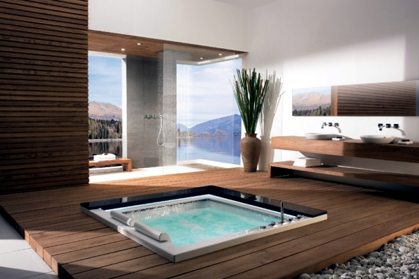 25 Designs For Indoor And Outdoor Jacuzzi Provide Spa Experience