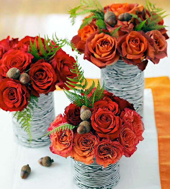 25 ideas for decoration for the autumn - autumn colors and textures