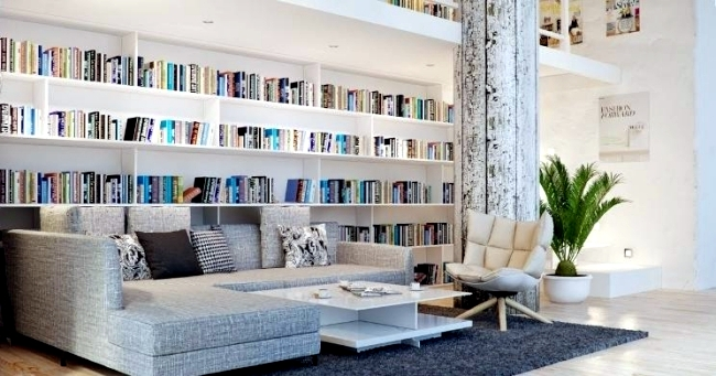 30 creative ideas how to make the library at home | Interior Design ...