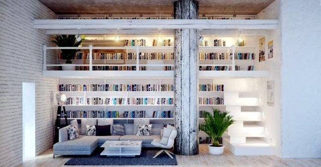 Miraculous 30 Creative Ideas How To Make The Library At Home Interior Largest Home Design Picture Inspirations Pitcheantrous