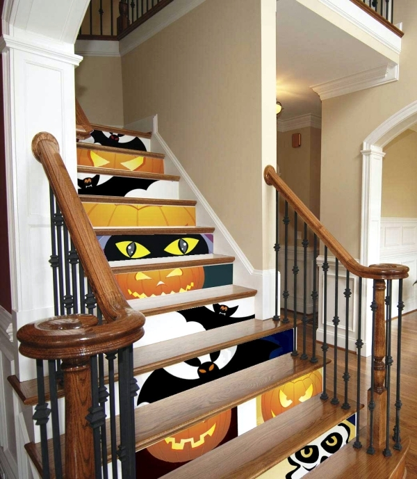Colorful Staircase Designs 30 Ideas To Consider For A: 30 Fall And Halloween Decorations For Your Stairs At Home