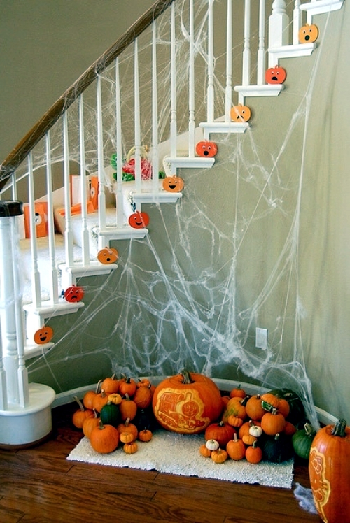 Fall And Halloween Decorations For Your Stairs Home Interior Design Ideas Ofdesign