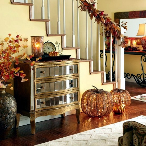Fall Home Decorations: 30 Fall And Halloween Decorations For Your Stairs At Home