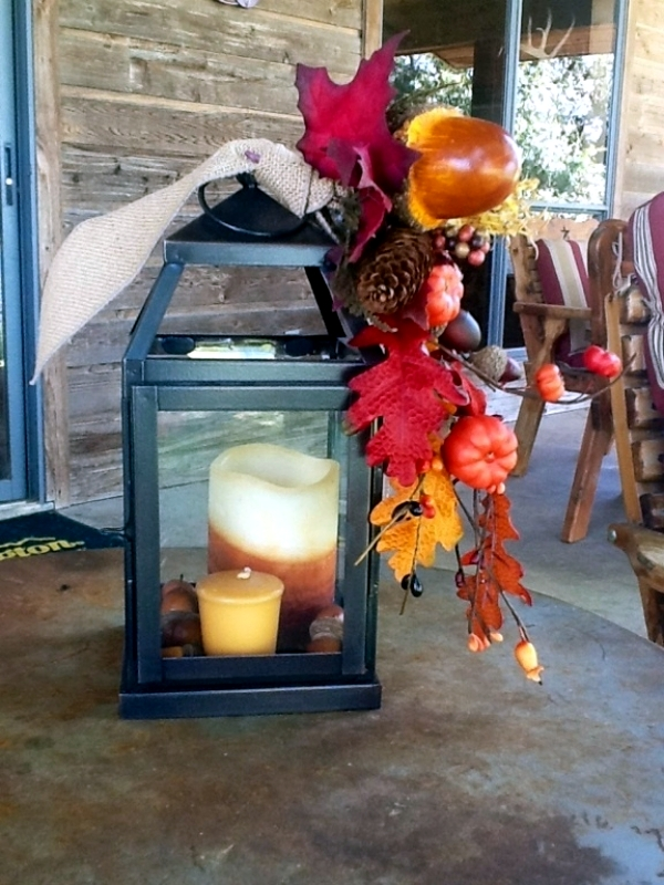 30 ideas for atmospheric autumn decoration with lights and lanterns