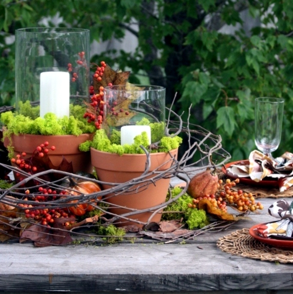 30 ideas for autumn table decoration with pumpkins for Thanksgiving