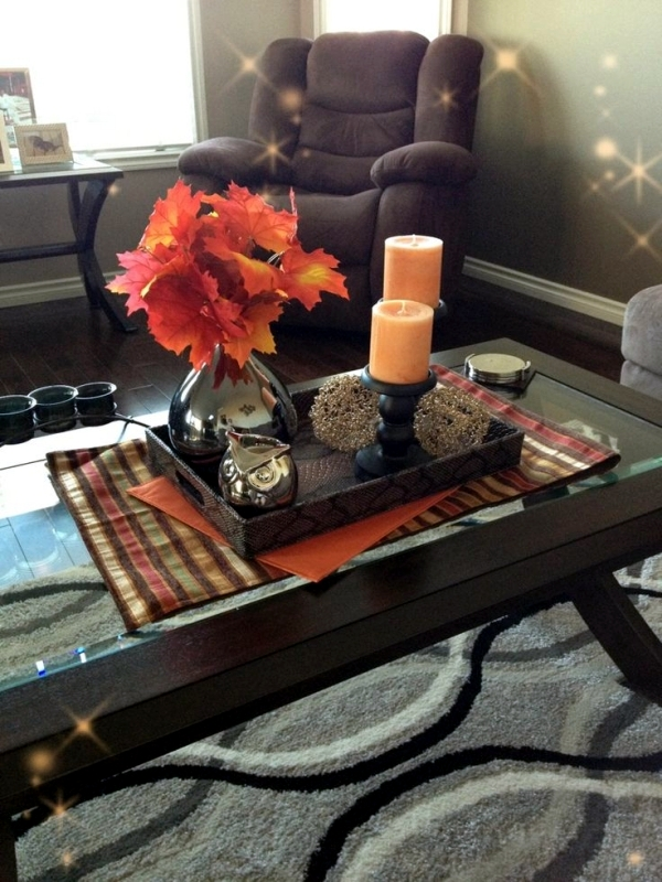30 Ideas For Fall Decorations On The Coffee Table In The