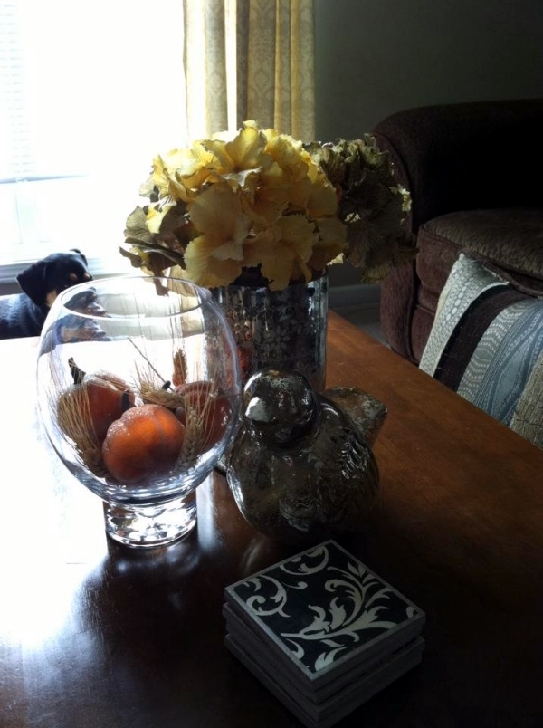 30 ideas for fall decorations on the coffee table in the living room