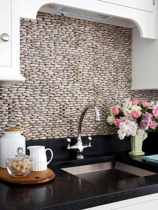 Etonnant 30 Ideas For Kitchen Design Back Wall Tiles, Glass Or Stone