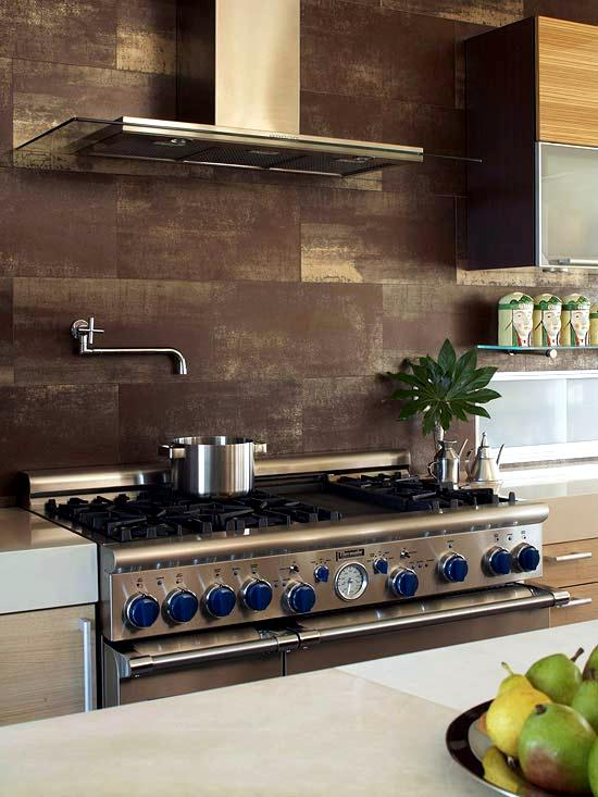 30 ideas for kitchen design back wall tiles, glass or stone ...