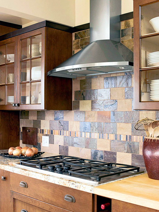 30 Ideas For Kitchen Design Back Wall Tiles Gl Or Stone