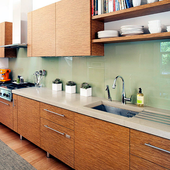 Gallery For Kitchen Glass Wall Tiles