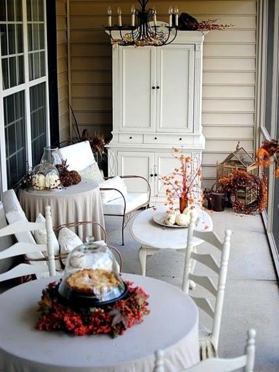 33 Autumn decoration ideas elegant in white for a stylish interior