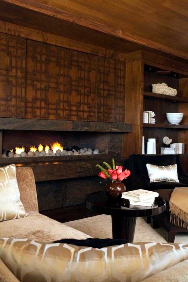 33 Ideas for warmth and comfort of home - fireplace as the focal point
