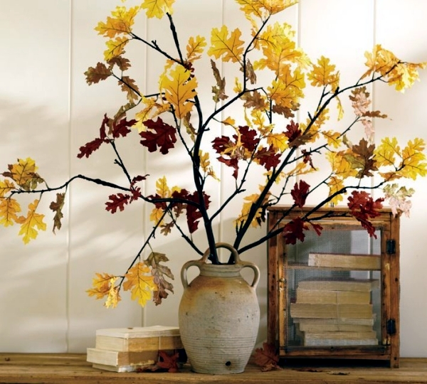 Colorful Autumn Decoration With Branches And Leaves Decorations Fall