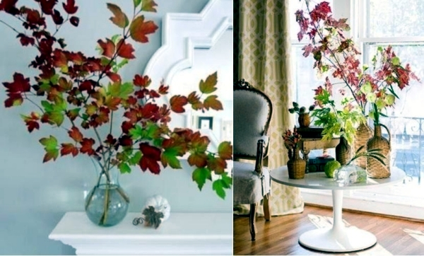 34 sexy ideas for autumn decoration with twigs, branches and autumn leaves