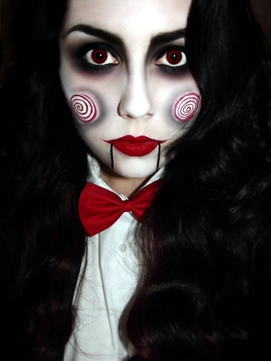 35 Halloween make up ideas for men and women from the past - Ladies Halloween Make Up