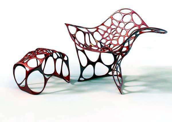 3D printer manufactures designer furniture - 23 3D printed pieces of furniture