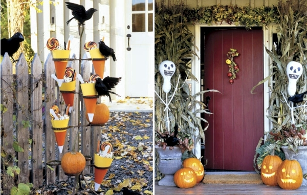 40 Garden Decorations for Halloween - eerily beautiful party ideas