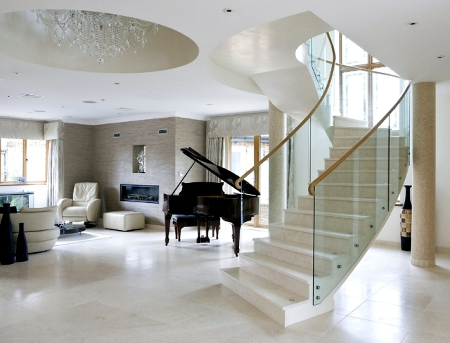 99 modern staircases designs - absolute eye-catcher in the living area