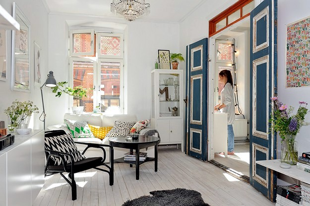 A bright and colorful Danish apartment
