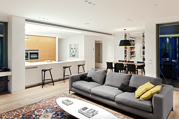 wood interior design apartment
