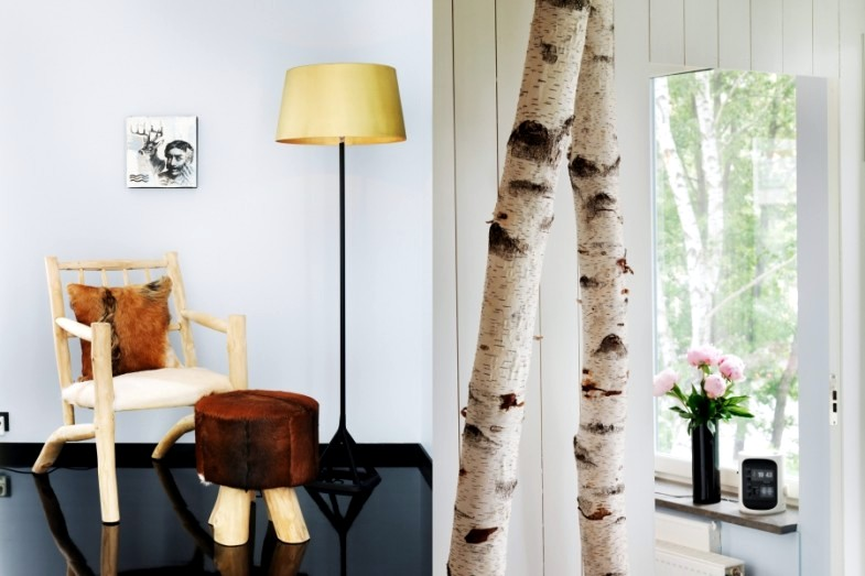 deco birch trunk