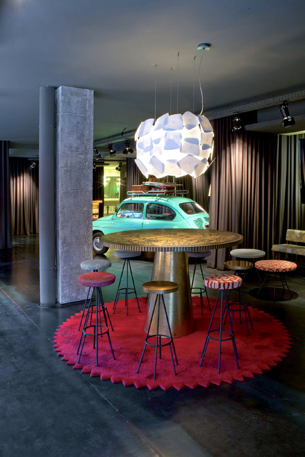 A hotel in the sixties atmosphere in Barcelona