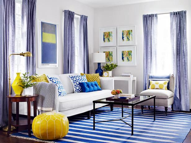 A living room-3 Cheap interior design ideas in different colors